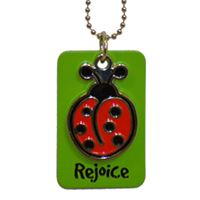 Picture of Rejoice Lady Bug Dog Tag